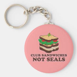 Club Sandwich Not Seals Keychain