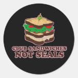 Club Sandwich Not Seals Stickers