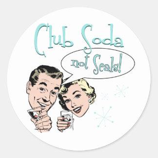 Club Soda Classic Round Sticker