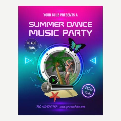 Club Summer Dance Music Party add photo Flyer