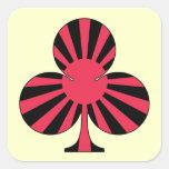 club sun rising 正方形シールステッカー