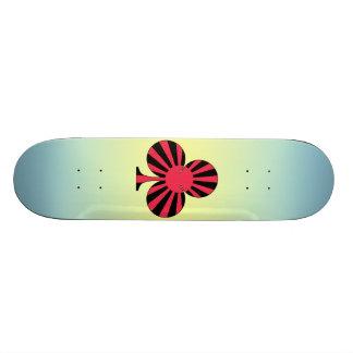 club sun rising skateboard deck