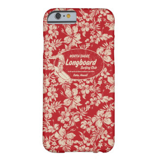Club Surfing Longboard Logo and Hibiscus Hawaiian Barely There iPhone 6 Case