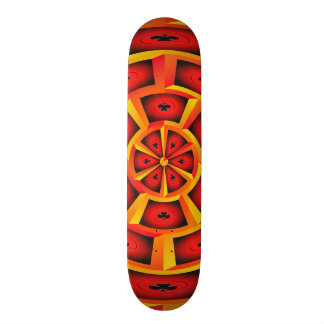 Club symbols skateboard deck