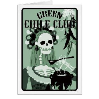 club verde del chile tarjeta de felicitación
