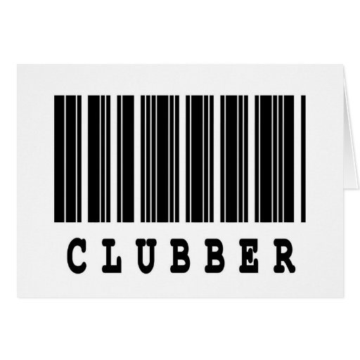clubber barcode design greeting cards