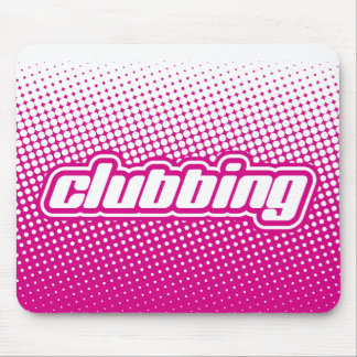 clubbing pink mouse pad