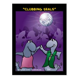 """Clubbing Seals"" Postcard"