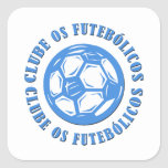 Clube os Futebolicos Square Sticker
