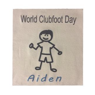 Clubfoot Personalized Stick Figure Notepad