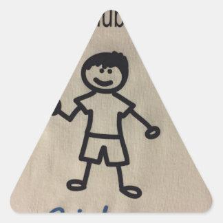 Clubfoot Personalized Stick Figure Triangle Sticker