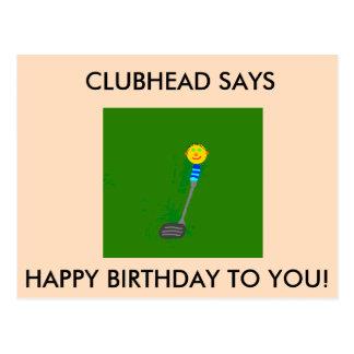 Clubhead Happy Birthday Postcard
