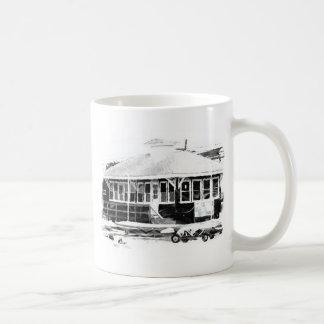 clubhouse drawing coffee mug