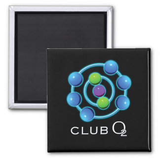 ClubO2Revised 2 Inch Square Magnet