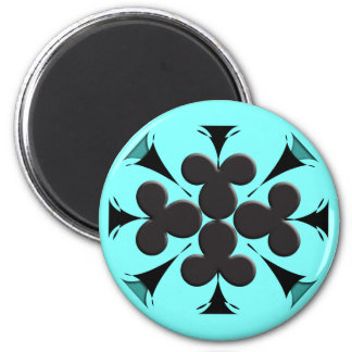 Clubs 2 Inch Round Magnet