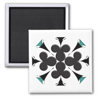 Clubs 2 Inch Square Magnet
