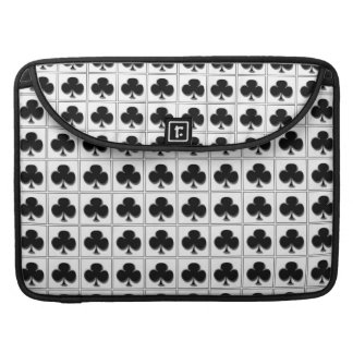 Clubs card suit pattern MacBook pro sleeve