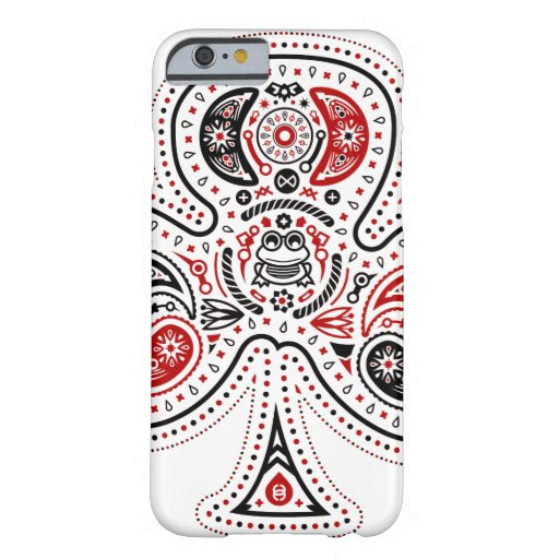 Clubs - caso del iPhone 6 (blanco/rojo/negro) Funda De iPhone 6 Barely There