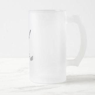 Clubs cruzados taza de cristal