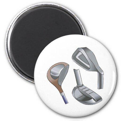 Clubs de golf imán redondo 5 cm