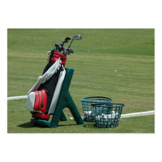 Clubs de golf tarjeta de visita