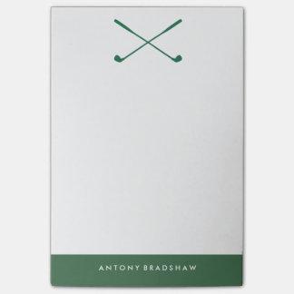 Clubs de golf verdes personalizados post-it® nota