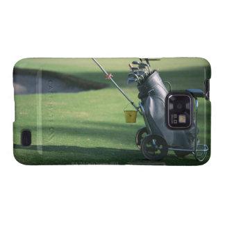 Clubs de golf y la bolsa de golf galaxy SII funda