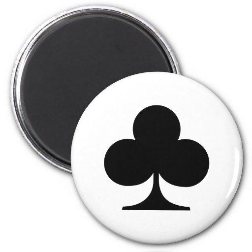 Clubs del póker iman de nevera