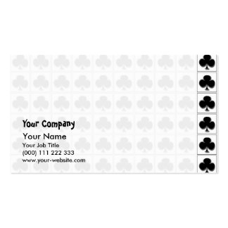Clubs playing cards suit pattern business card