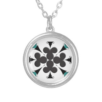Clubs Round Pendant Necklace