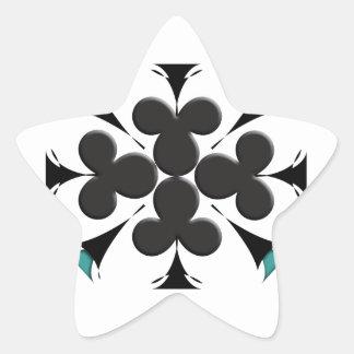 Clubs Star Sticker