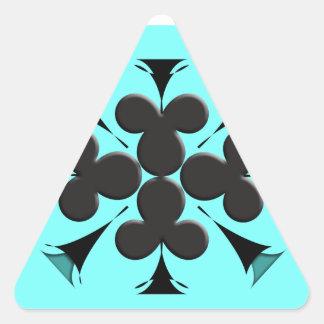 Clubs Triangle Sticker