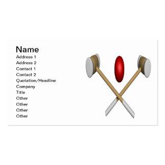 Clubs y bola del croquet plantilla de tarjeta personal