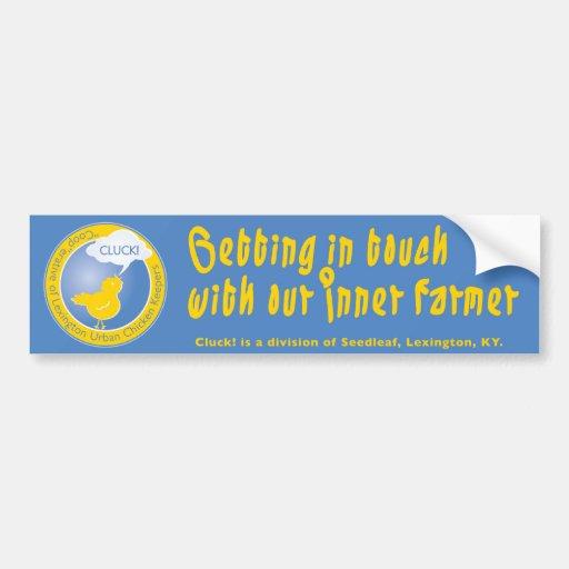 Cluck Inner Farmer Bumper Sticker