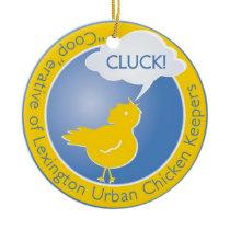Cluck! Logo Christmas Ornament