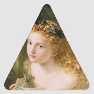 Cludia by Sophie Anderson Triangle Sticker