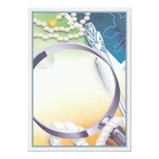 Clue © 5x7 paper invitation card