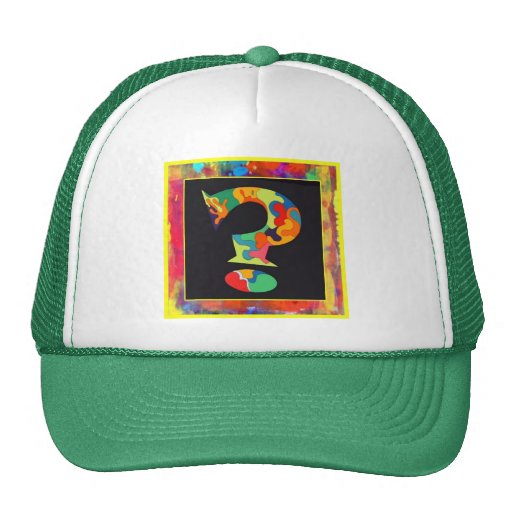 Clueless but Psychedelic Cap Mesh Hats