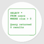 Clueless Users Classic Round Sticker