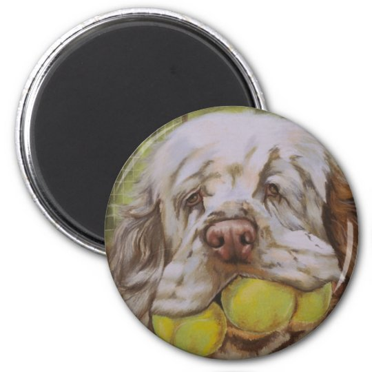Clumber Spaniel 2 Inch Round Magnet