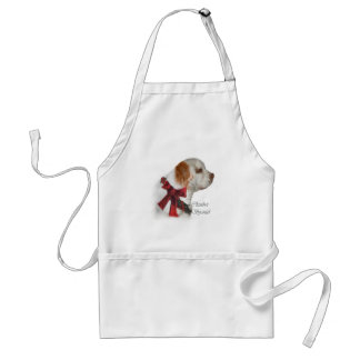 Clumber Spaniel Christmas Gifts Adult Apron