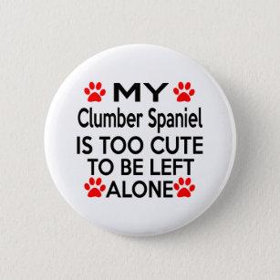 Clumber Spaniel Designs Pinback Button