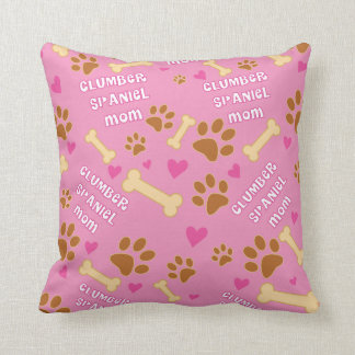 Clumber Spaniel Dog Breed Mom Gift Idea Throw Pillow