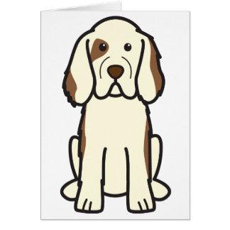 Clumber Spaniel Dog Cartoon Card
