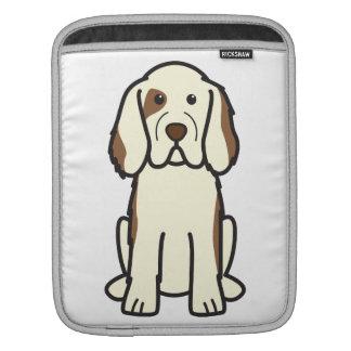 Clumber Spaniel Dog Cartoon iPad Sleeve