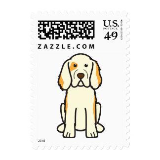 Clumber Spaniel Dog Cartoon Postage Stamps