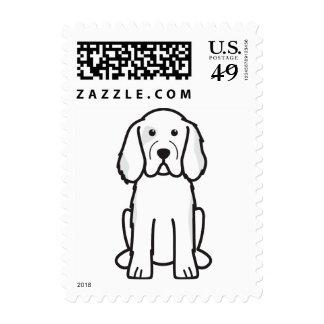 Clumber Spaniel Dog Cartoon Stamps