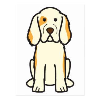Clumber Spaniel Dog Cartoon Post Card
