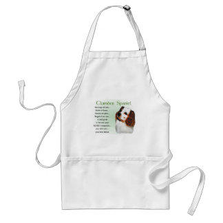 Clumber Spaniel Gifts Adult Apron
