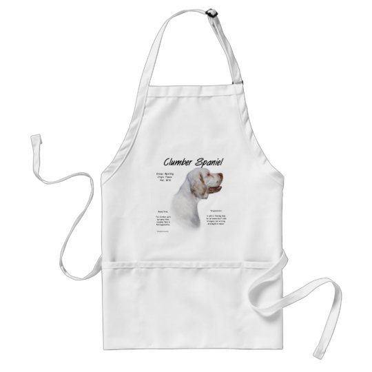 Clumber Spaniel History Design Adult Apron